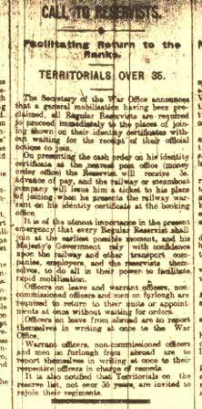 Derby Mercury - Friday 7 Aug 1914