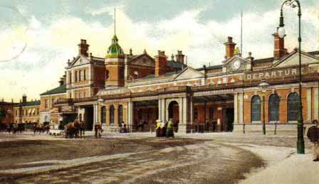Derby Railway Station in 1907