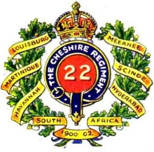 22 Regiment Badge c. 1905