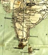 Map of India 1914
