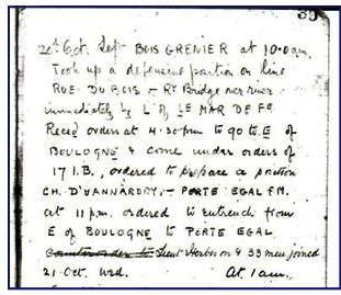 War Diary sample